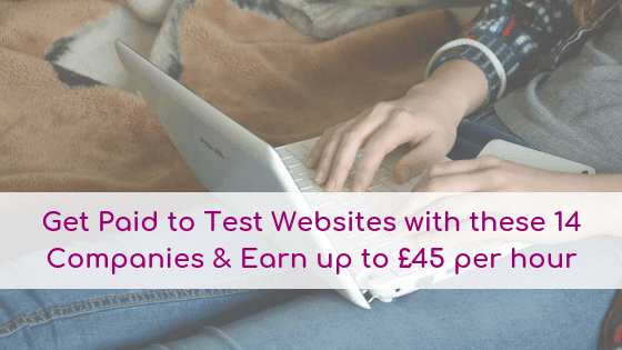 Woman usimg her computer to get paid for testting websites