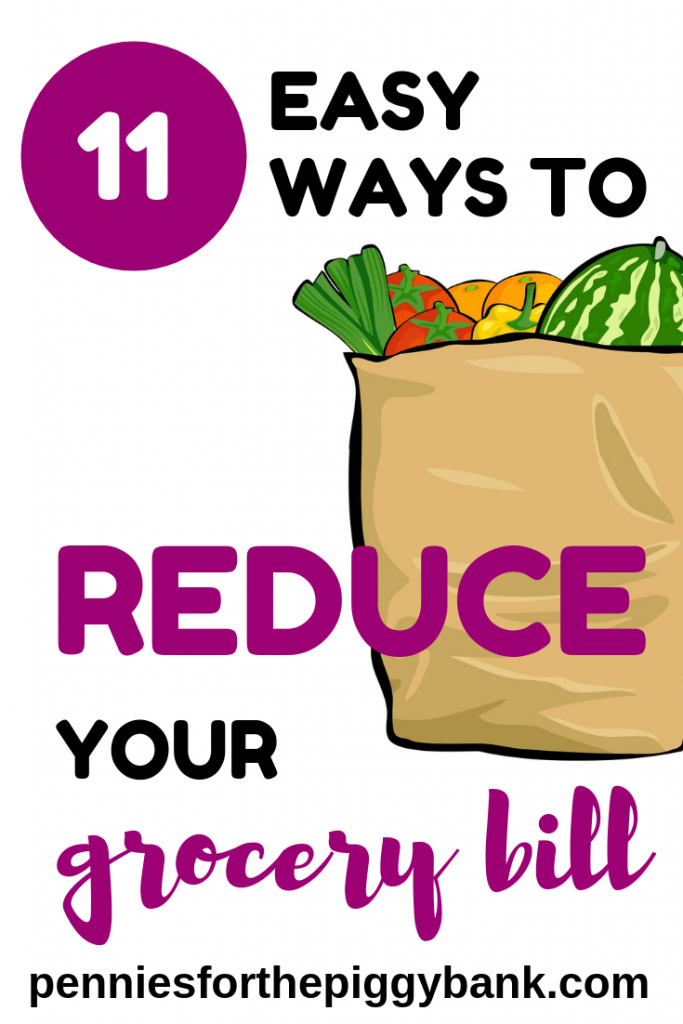 Are you looking for ideas on how to spend less on your groceries each month to reduce your food bill. This post gives you 11 easy ways to save money on your grocery shopping and reduce your food bill.