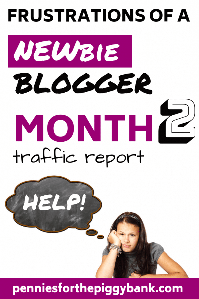 Frustrations of a New Blogger Month 2 Traffic Report. In my second month blog traffic report I'll reveal my pageviews and sessions on my new 2 month old blog. And no, they're no huge but they are genuine blogg traffic figures from a new beginner blogger. If you're looking for tips on what to expect with realistic pageviews, then read on. #beginnerblogger #newblogger
