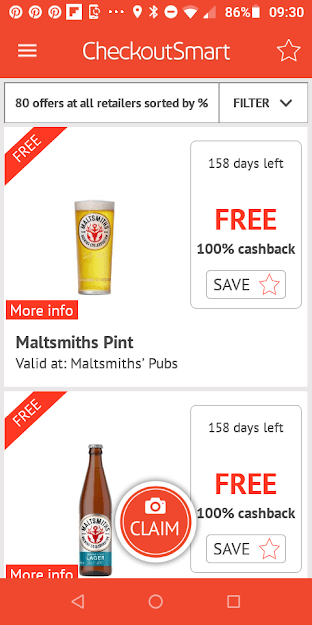 CheckoutSmart Maltsmith Free Beer Offers