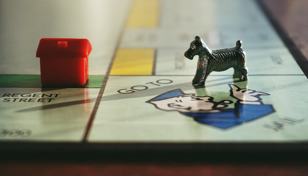 Monopoly Board Game Dog Piece Sent to Jail