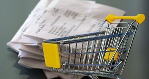 Shopping Trolley with Receipt Image