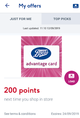 Boots 200 Free Points for Downloading App Screenshot
