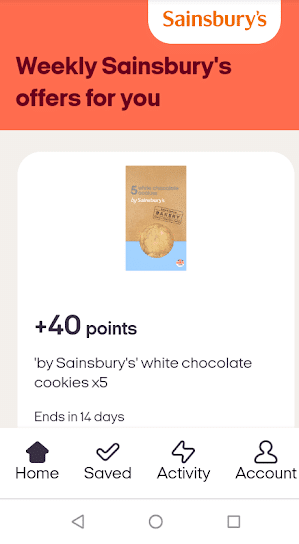 Sainsbury's Nectar App Cookie Offer