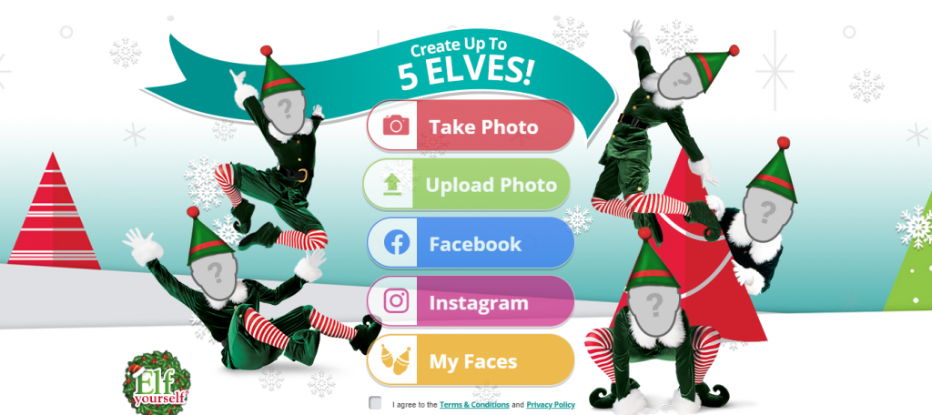 ElfYourself Website Screenshot