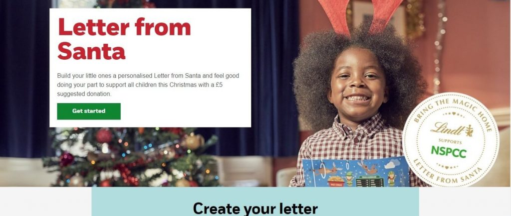 NSPCC Create a Letter from Santa Screenshot