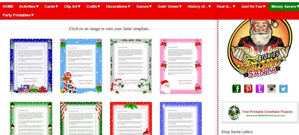Noella Designs Santa Letter Printables Screenshot