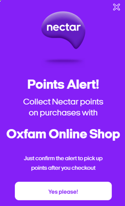 Nectar Notifier Pop up example