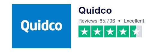 Quidco Trustpilot Rating Screenshot