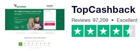 TopCashback Trustpilot Review Screenshot